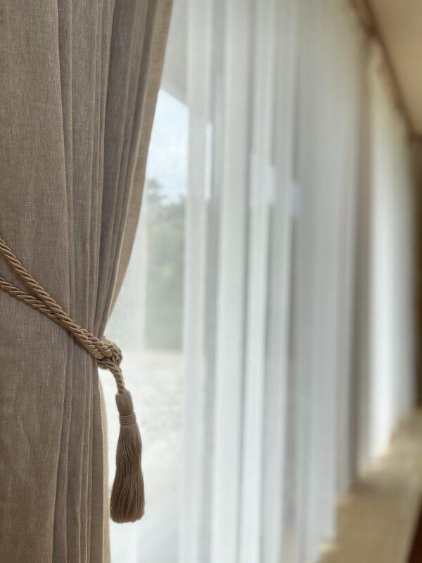 出雲 納品事例 カーテン 装飾タッセル リビング