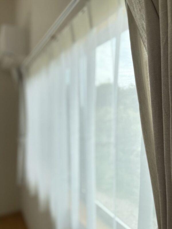 出雲 納品事例 主寝室 カーテン 天然素材